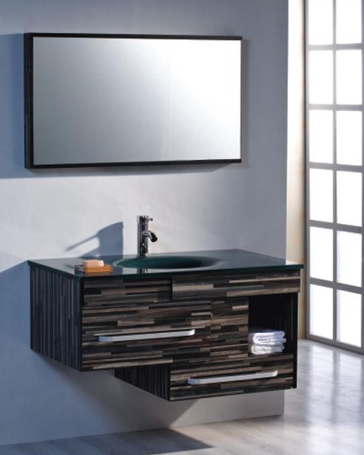 39 5 Inch Modern Floating Bathroom Vanity Set With Mirror