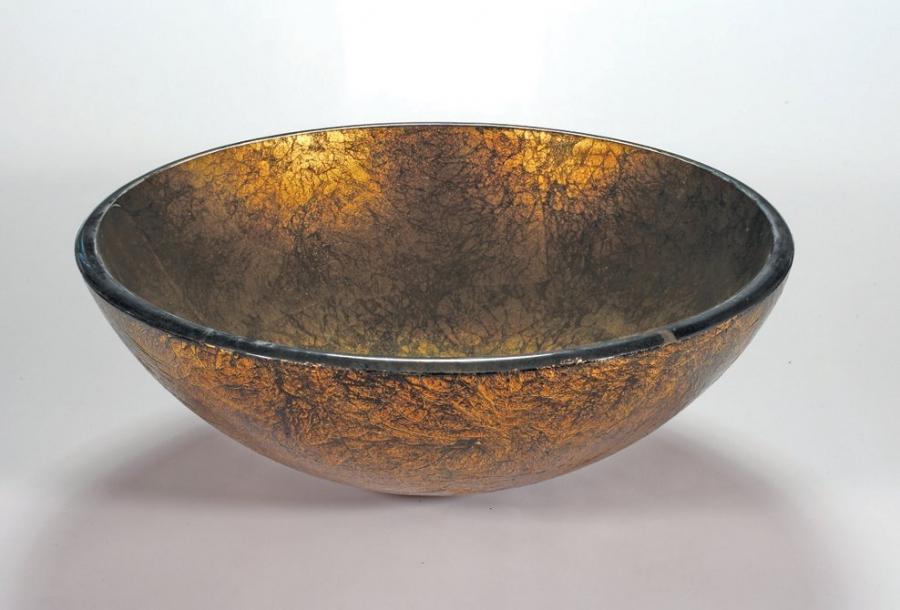 Antique Gold Round Vessel Sink Uvlfza88