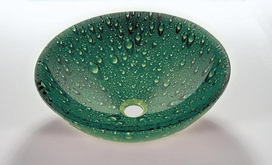 Green Vessel Sink : Green Round Vessel Sink UVLFZA10