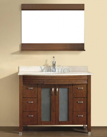 42 Inch Single Sink Bathroom Vanity With Choice Of Top In Classic Cherry Uvabalcc42