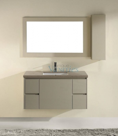 Excellent 42 Inch Modern Single Sink Bathroom Vanity With Quartz Home Interior And Landscaping Ponolsignezvosmurscom