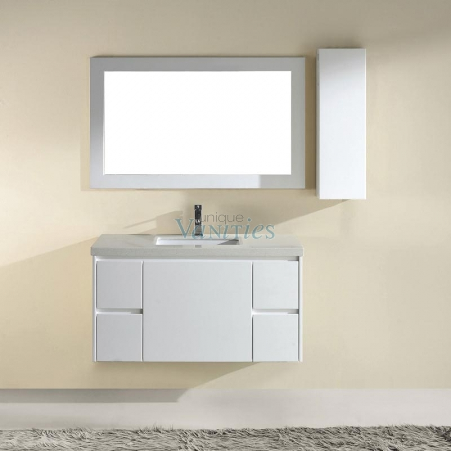 vanity bathroom set suite single inch trails bordeaux v native sink