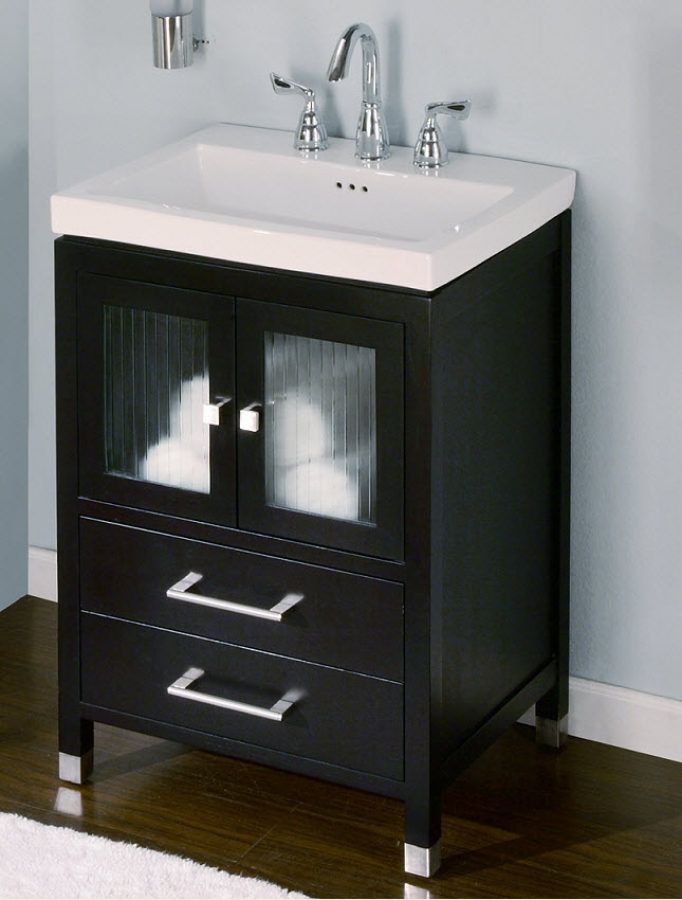 24 Inch Single Sink Modern Bathroom Vanity with Choice of Finish UVEICH24
