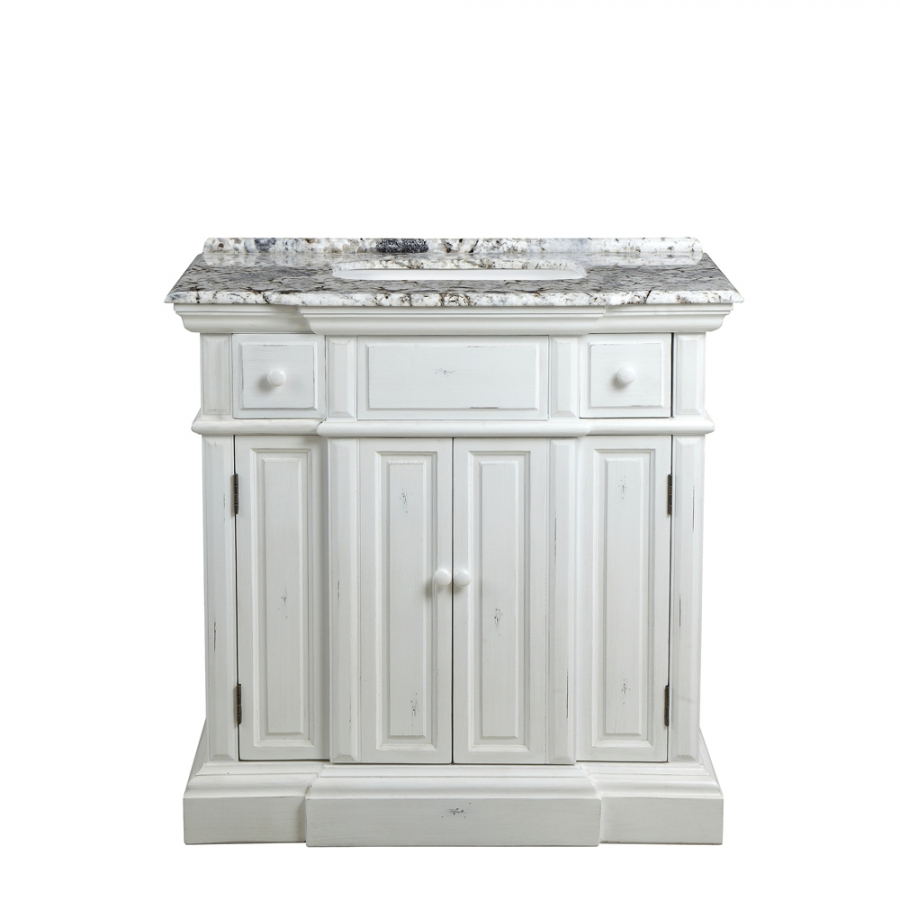 36 Inch Single Sink Bathroom Vanity with Choice of No Top
