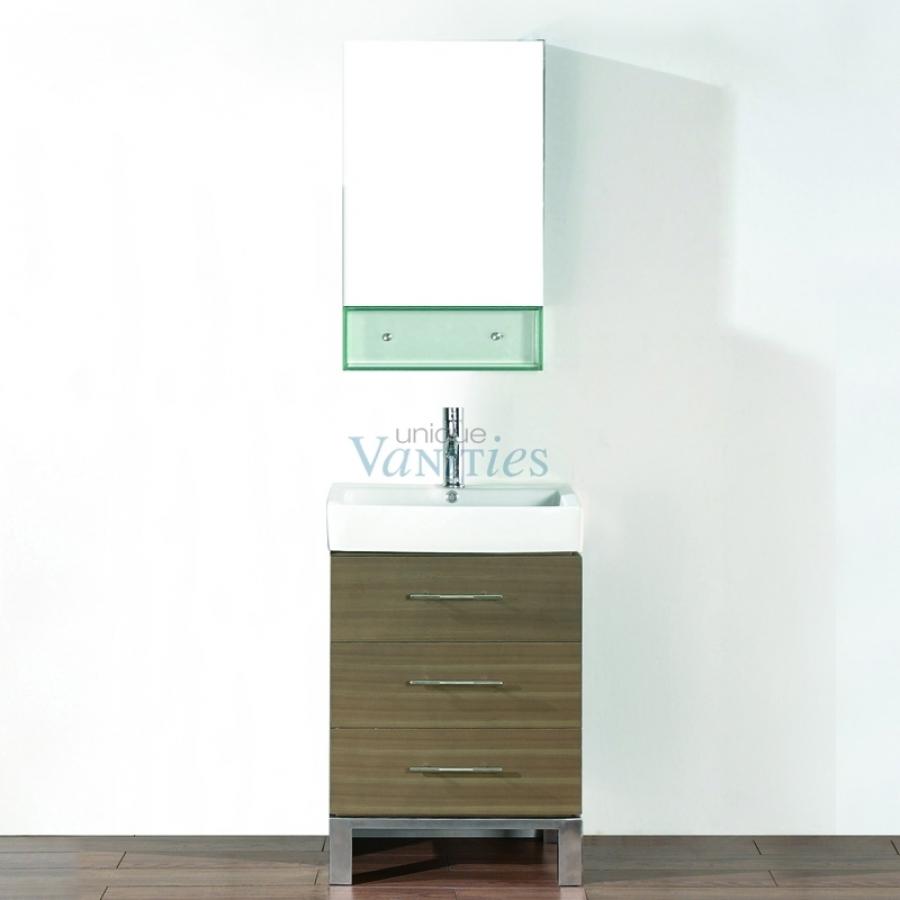 22 Inch Single Sink Bathroom Vanity In Smoked Ash Uvabgisa22