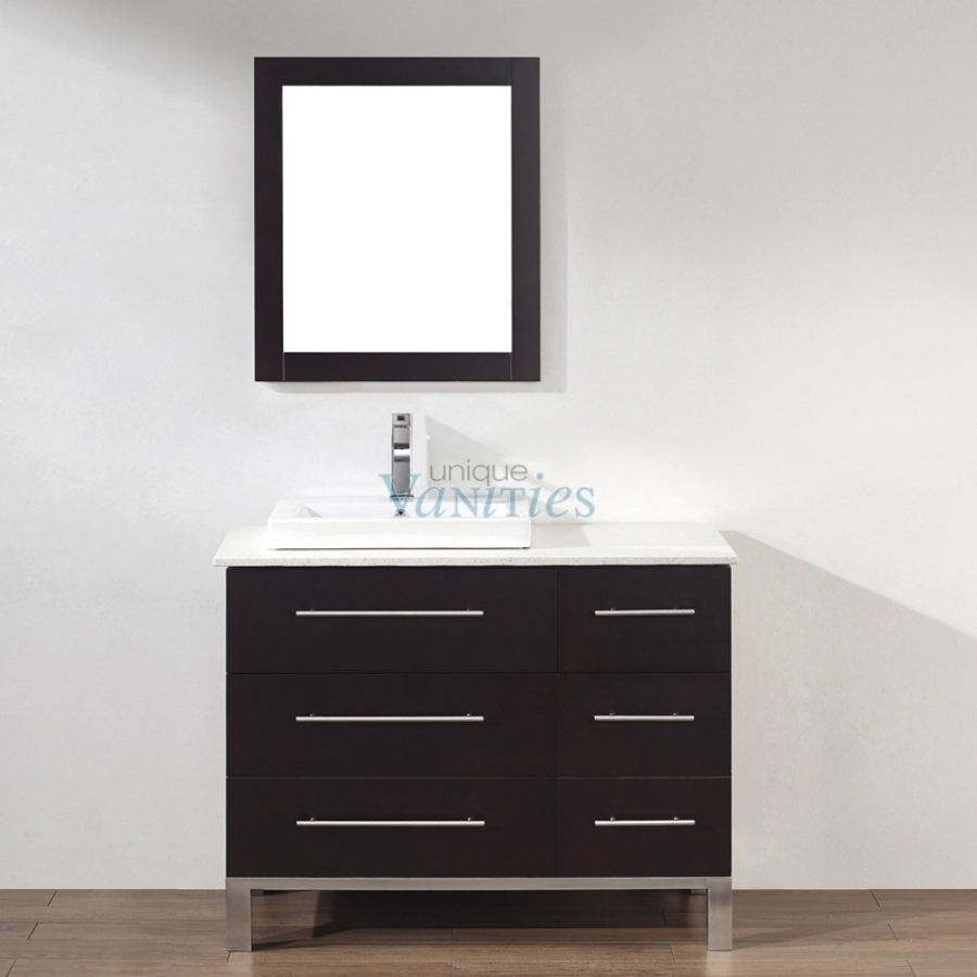 42 Inch Single Sink Bathroom Vanity In Chai