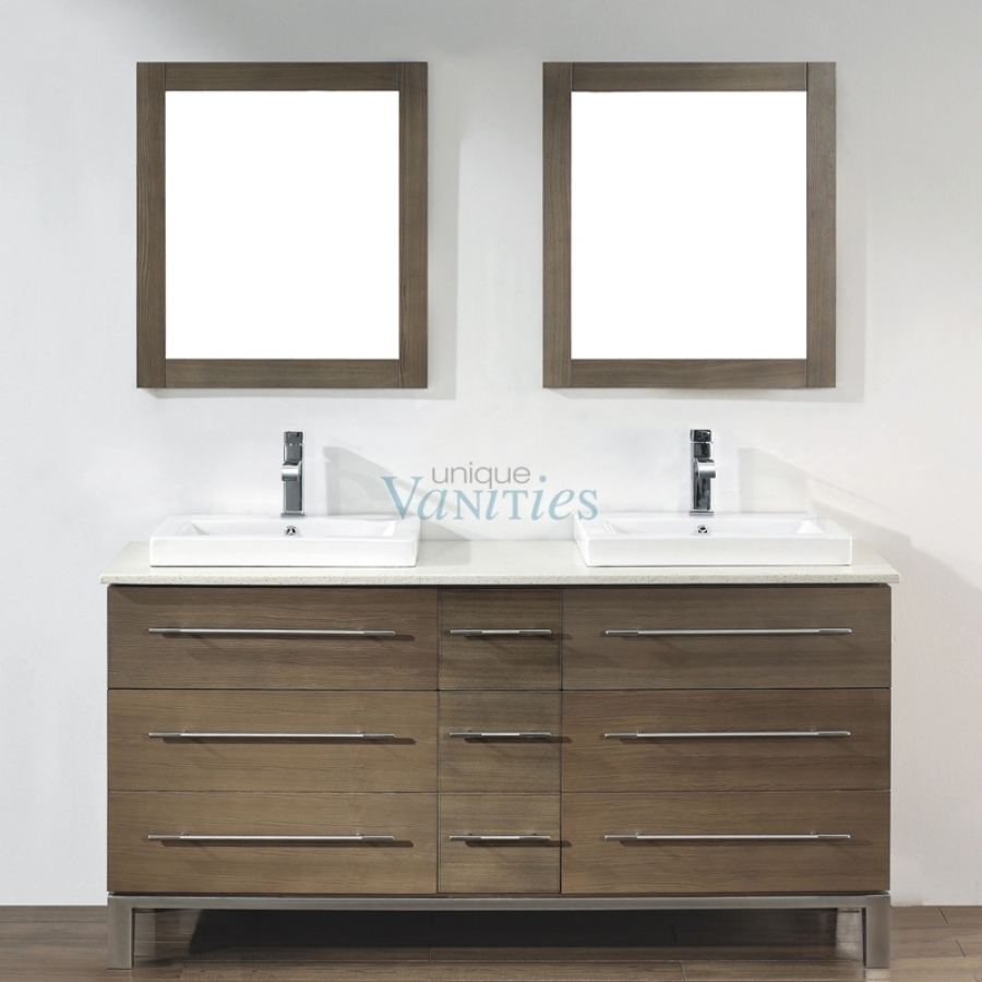 63 inch double sink bathroom vanity