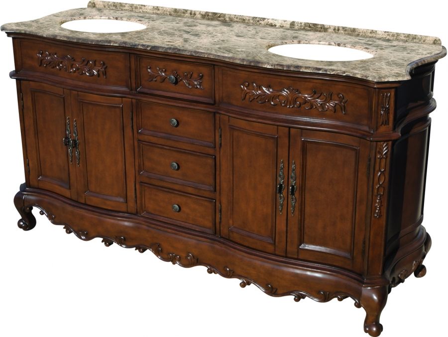 67 inch double sink bathroom vanity in mahogany uvlklk2067