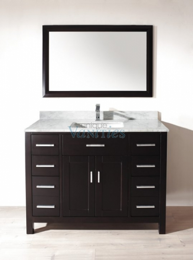 48 Inch Single Sink Bathroom Vanity In Espresso Uvabxkaes48