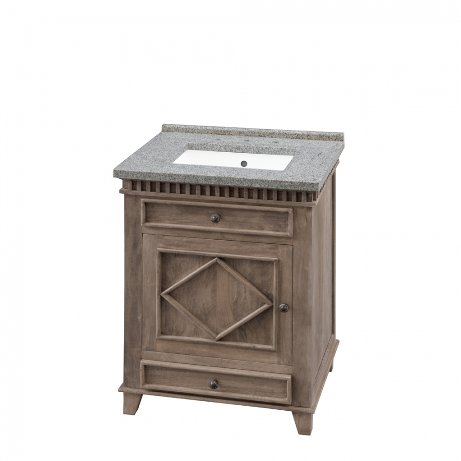 26 Inch Single Sink Bathroom Vanity With Choice Of No Top