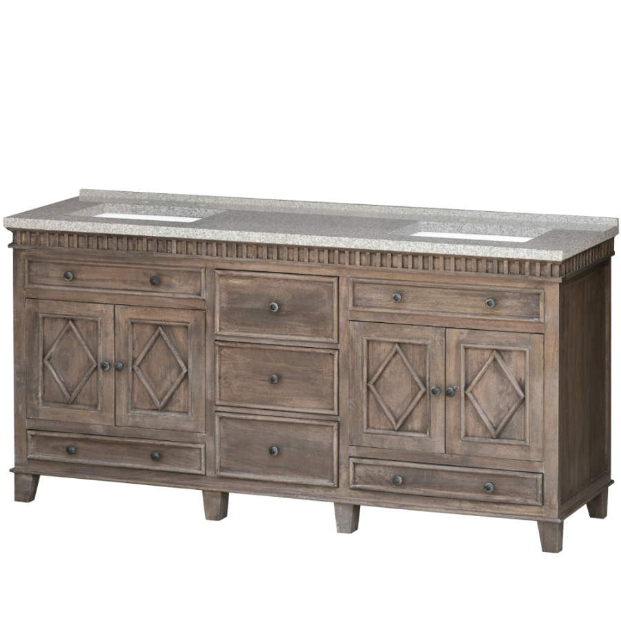 Pleasing 72 Inch Double Sink Bathroom Vanity With Choice Of No Top Home Remodeling Inspirations Cosmcuboardxyz