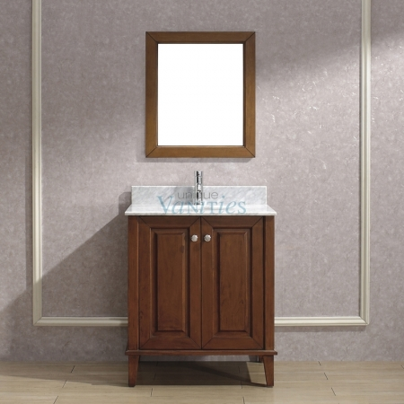 30 Inch Single Sink Bathroom Vanity with Choice of Top in ...