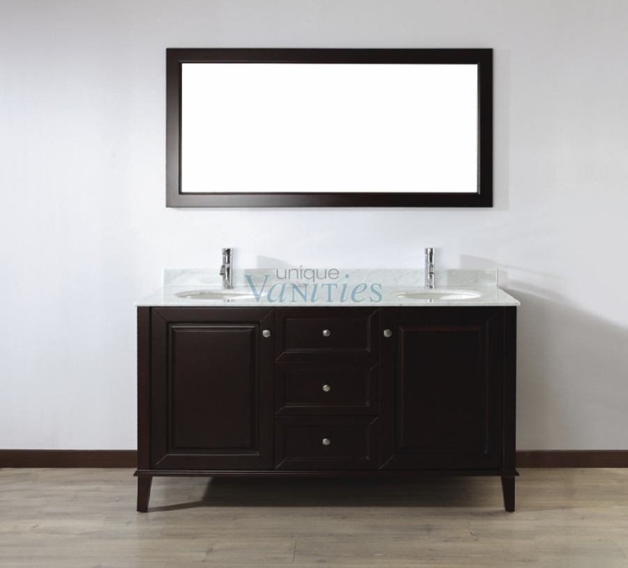 63 Inch Double Sink Bathroom Vanity With Choice Of Top In Chai Uvablich63