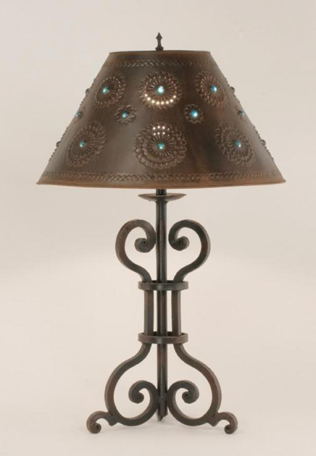 Malaga Wrought Iron Table Lamp Uvslmalr