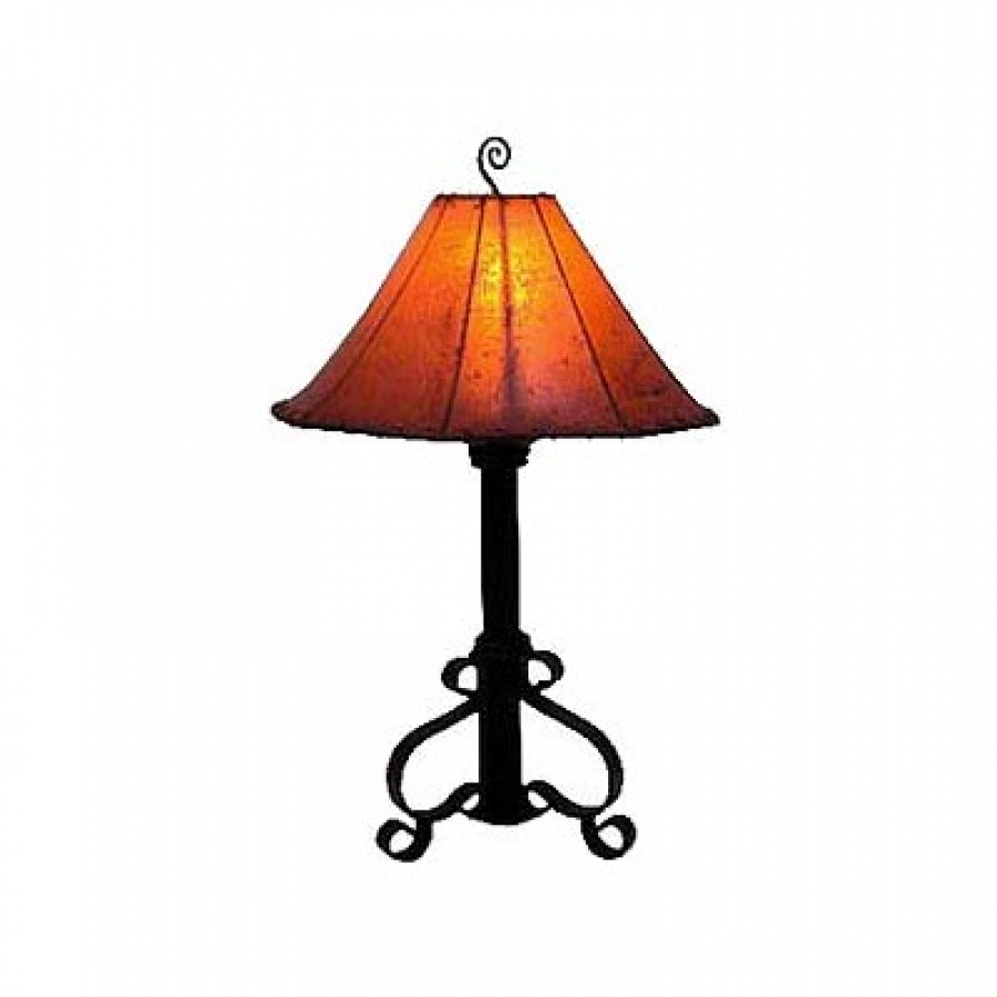 hand made wrought iron table lamp uvagtl0001. Black Bedroom Furniture Sets. Home Design Ideas