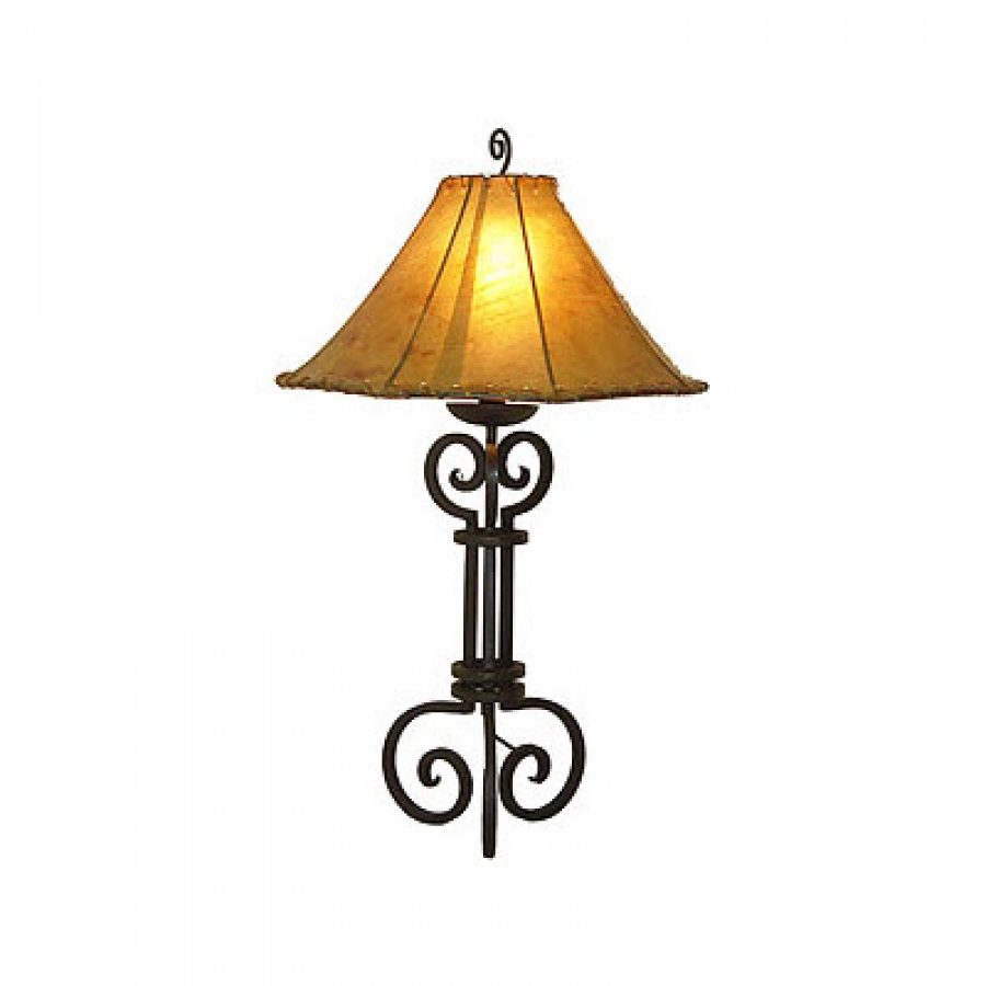 hand made wrought iron table lamp uvagtl004. Black Bedroom Furniture Sets. Home Design Ideas