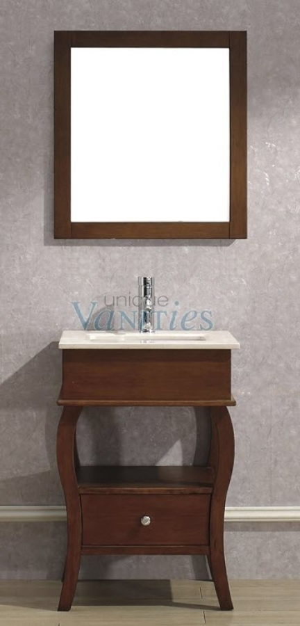24 Inch Single Sink Bathroom Vanity With Choice Of Top In Classic Cherry UVAB