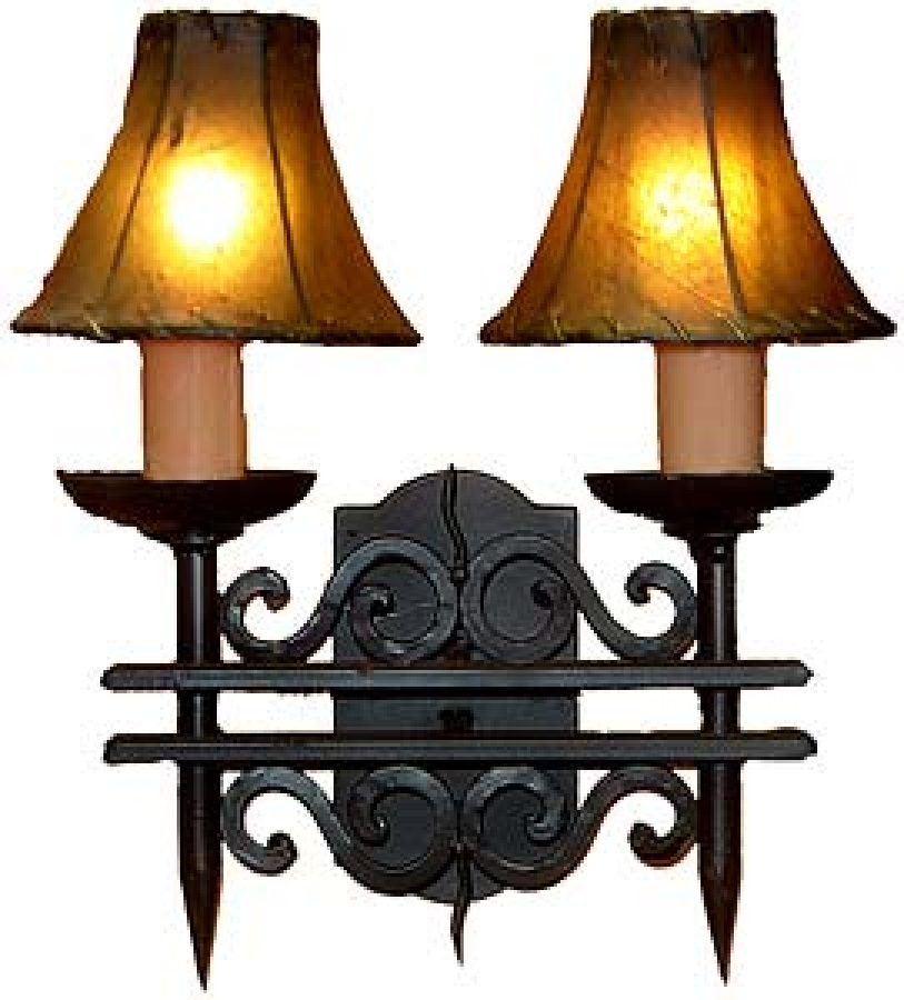 light hand forged wrought iron wall sconce uvagws002