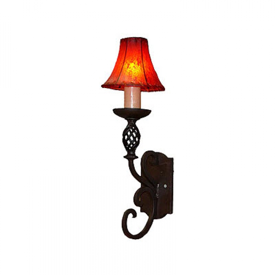 1 Light Hand Forged Wrought Iron Wall Sconce UVAGWS005