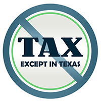 No Tax Except in Texas