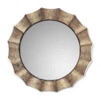 Gotham Tarnished Silver with Black Round Mirror