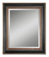 Uttermost Fabiano Hand Rubbed Black Rectangular Mirror
