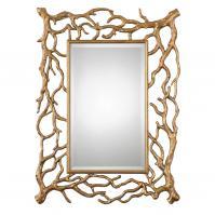 Sequoia Gold Tree Branch Rectangular Mirror