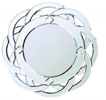 Galaxy Round Contemporary Venetian Style Round Twist Mirror