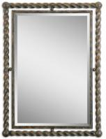 Garrick Rectangular Heavy Rust Wash Mirror
