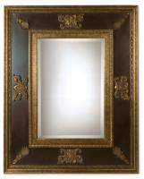 Uttermost Cadence Gold Leaf with Heavy Antiquing Rectangular Mirror