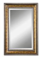 Sinatra Gold Leaf Undercoat Rectangular Mirror