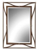 Uttermost Thierry Scratched Bronze Rectangular Mirror