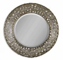 Alita Champagne with Black Round Mirror