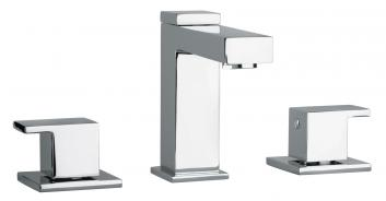 Three Hole Bathroom Vanity Faucet with Finish Option
