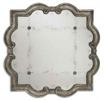 Prisca Distressed Silver with Black Unique Mirror