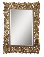 Uttermost Capulin Rectangular Antiqued Gold Leaf Mirror