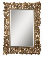 Capulin Rectangular Antiqued Gold Leaf Mirror