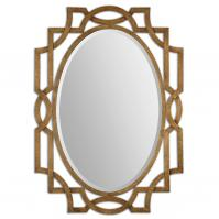 Margutta Heavily Antiqued Gold Leaf Unique Mirror