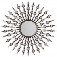 Uttermost Kimani Antiqued Silver Round Mirror