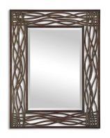 Uttermost Dorigrass Distressed Mocha Brown Rectangular Mirror