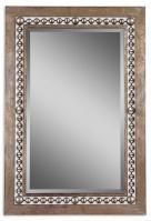 Uttermost Fidda Antiqued Silver Leaf Rectangular Mirror