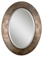 Kayenta Antiqued Silver Champagne Oval Wall Mirror