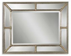 Lucinda Antiqued Champagne Rectangular Mirror