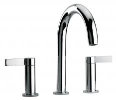 Dual Lever Roman Tub Faucet with Finish Option