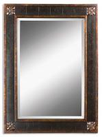 Uttermost Bergamo Vanity Distressed Chestnut Brown Rectangular Mirror