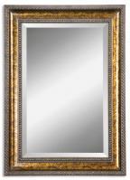 Uttermost Sinatra Vanity Gold Leaf Undercoat Rectangular Mirror