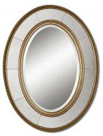 Uttermost Lara Antiqued Silver Leaf Oval Mirror