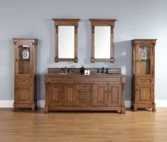 72 Inch Double Sink Bathroom Vanity in Country Oak