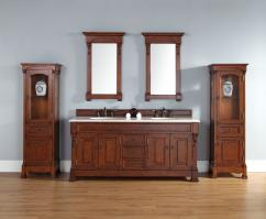 72 Inch Double Sink Bathroom Vanity in Warm Cherry