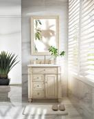 30 Inch Single Sink Bathroom Vanity with Snow White Quartz Top